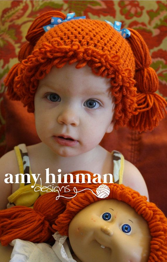 Old Fashioned Cabbage Patch Crochet Wig Pattern Vignette - Blanket ...