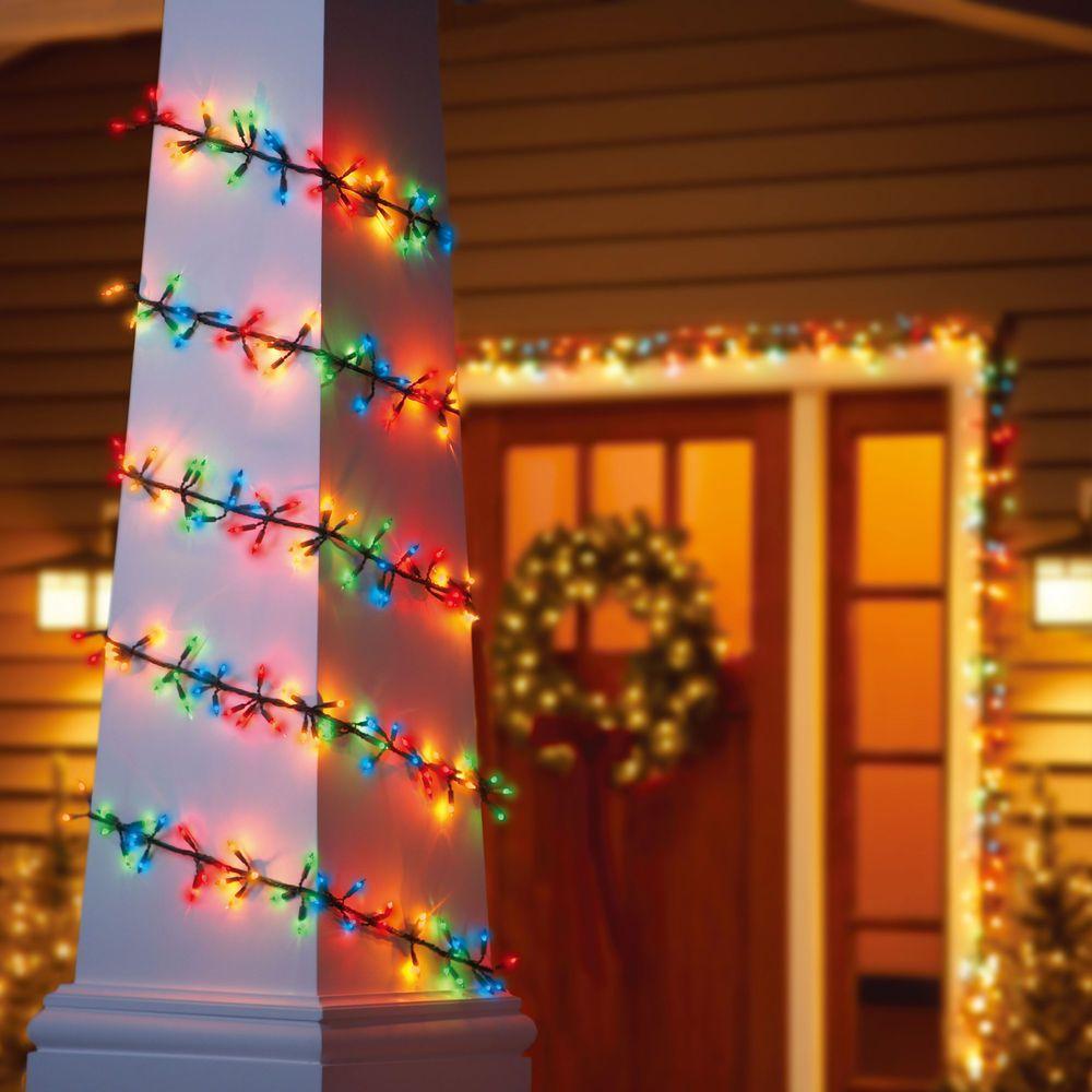 Garland Light Set Green Wire 200 Multi Colored Bulbs Seasonal Holiday Home Decor Holidaytime Light Garland Holiday Home Decor Holiday Time