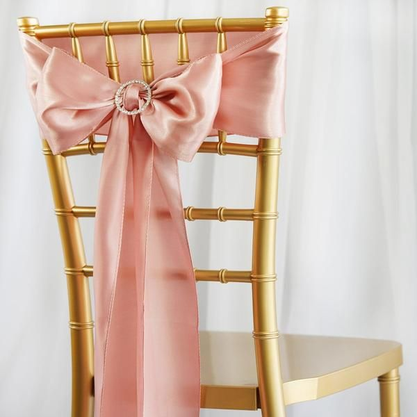 5 Pack 6 X106 Dusty Rose Satin Chair Sash In 2020 With Images Wedding Chair Sashes Chair Sashes Wedding Table Decorations Cheap