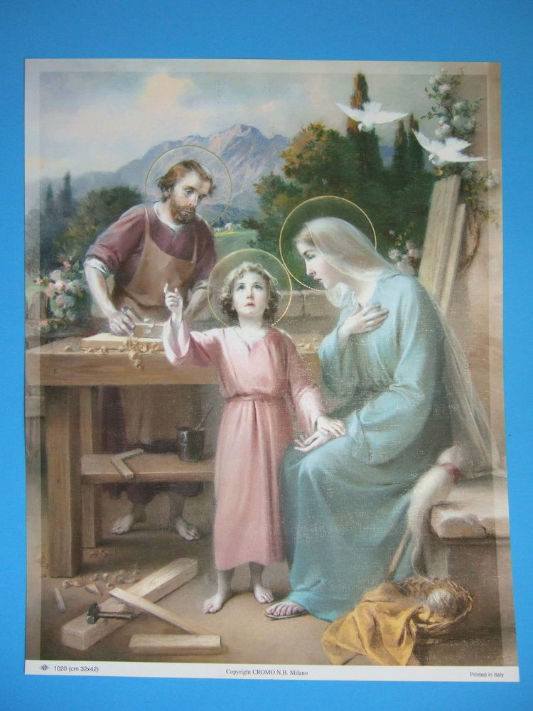 Catholic Print Picture Large - HOLY FAMILY at Nazareth 13x17\
