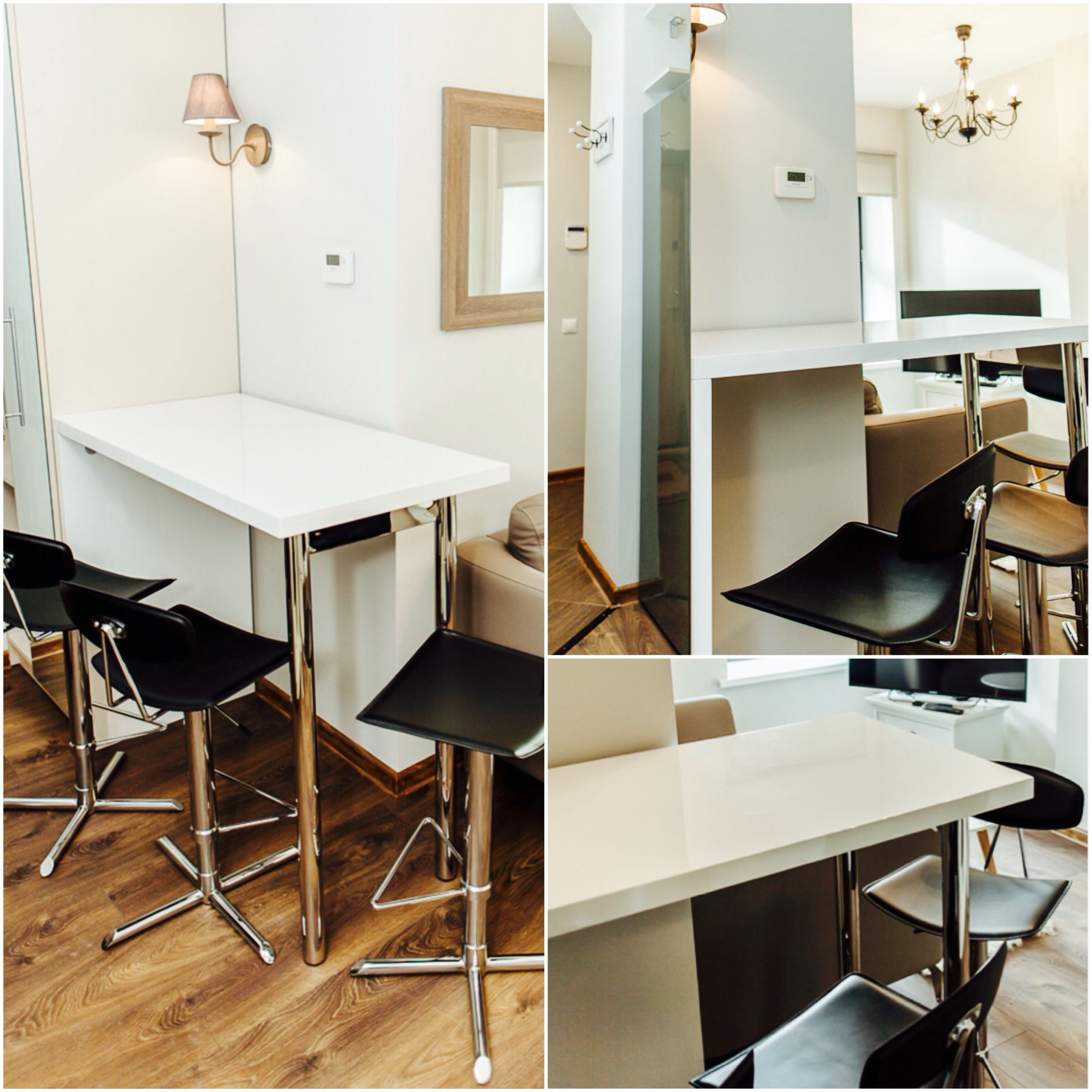 Furnitures Fashion Small Dining Room Furniture Design: Dining Room. Scandinavian Style. Bar Chairs. Small