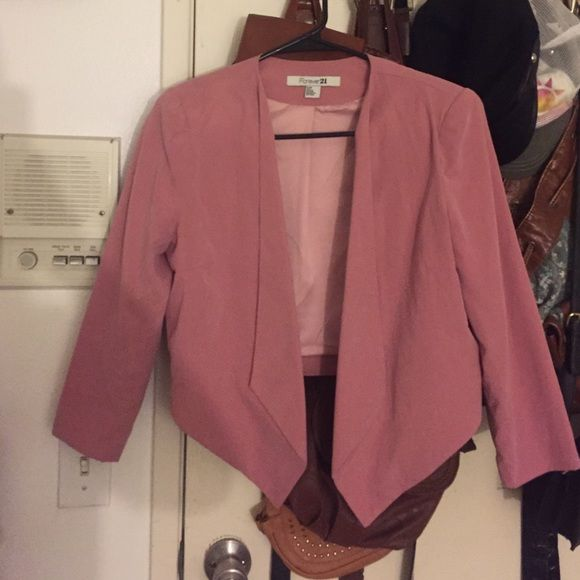 Pink blazer Great condition only worn once! SWAYED Forever 21 Jackets & Coats Blazers