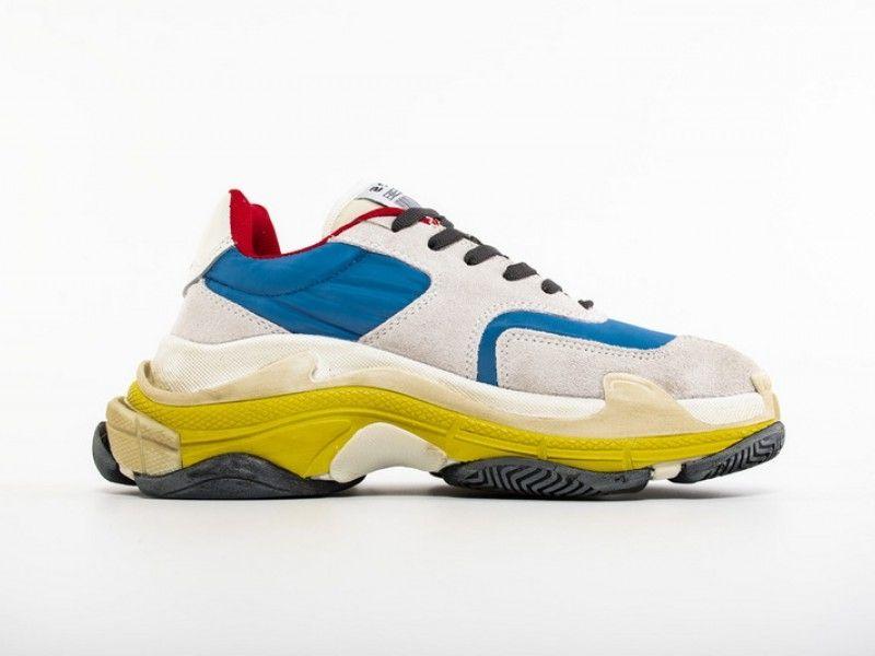 Balenciaga Triple S 2 0 Sneaker Blue Yellow Shoes Sneakers Vans Shoes Sneakers Jordans Swag Sneakers Men Fash Sneakers Blue Sneakers Fashion Womens Sneakers