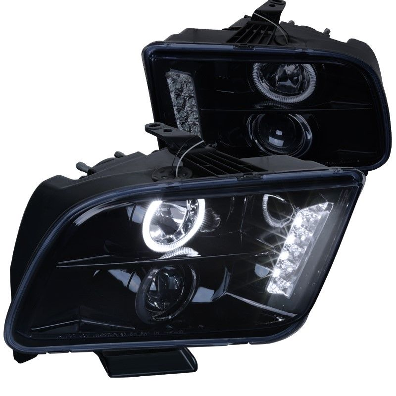 Spec D Tuning 2002 2009 Ford Mustang Projector Headlight 05 06 07 08 09 Left Right 2009 Ford Mustang 2006 Ford Mustang Projector Headlights