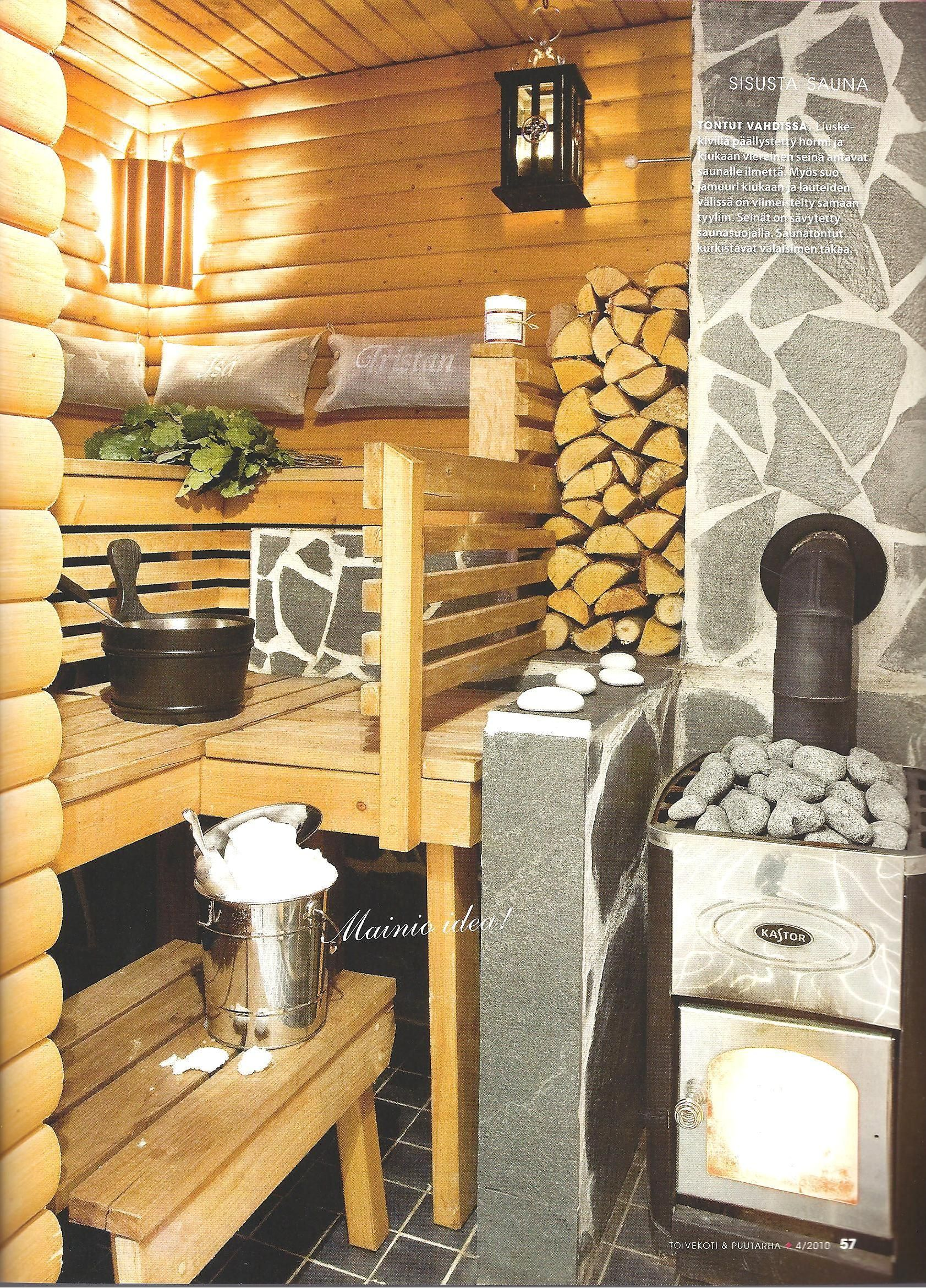 Sauna style why not try it as the design in a small cabin banya