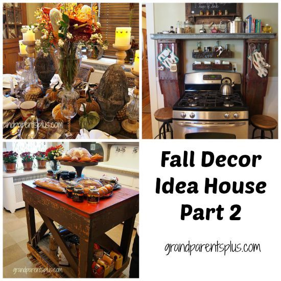This Tour Takes You To The Fall Decor Idea House With A K Into Dining Room Kitchen And Small Bathroom Lots Of Vintage Re Purposed Items