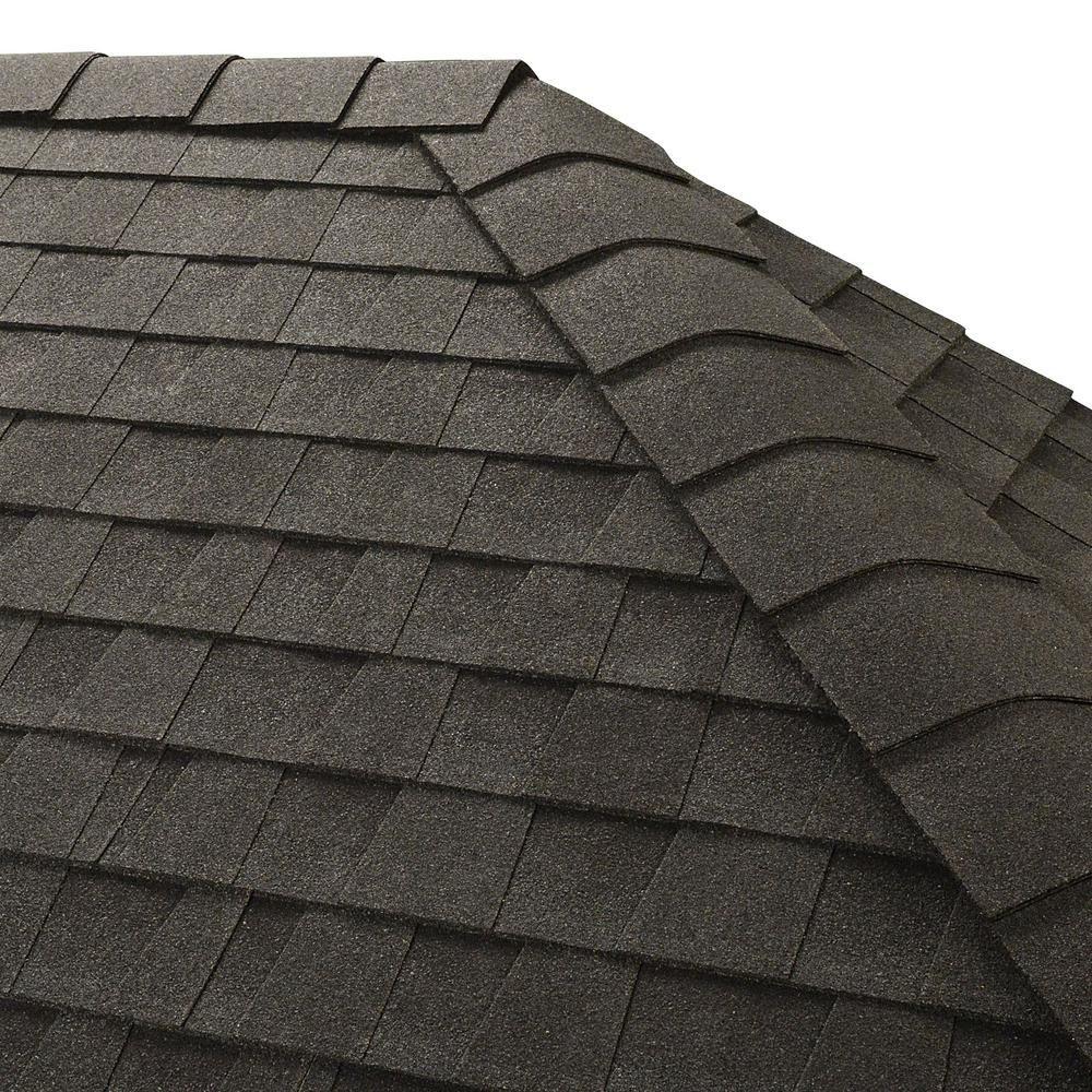 Best Gaf Timbertex Charcoal Hip And Ridge Shingles 20 Linear 400 x 300