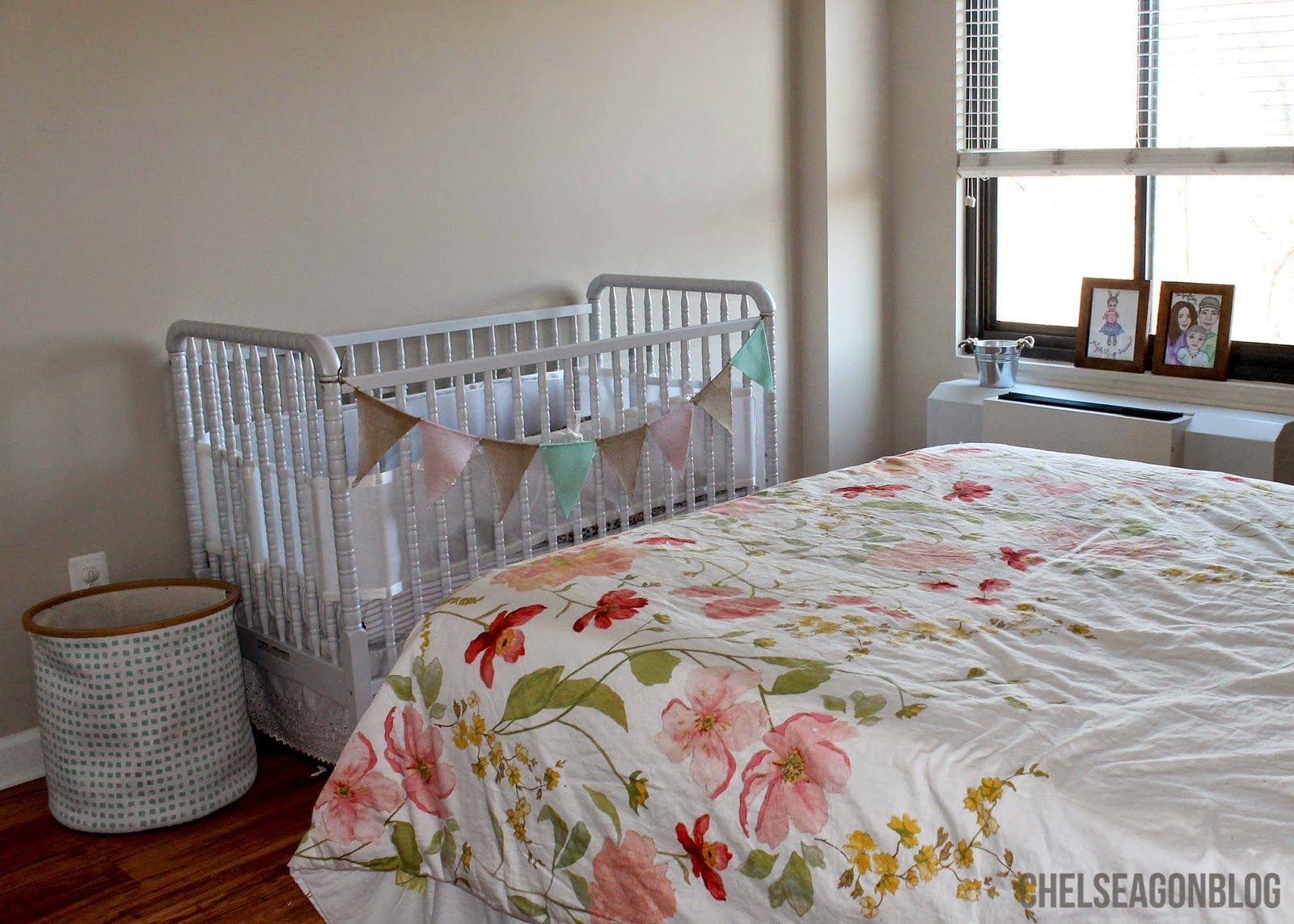 Chelsea Gon Blog: Third home- third master bedroom.  Target, budget, home decor, marshalls, inspiration, neutral color scheme, IKEA, Jenny Lind, crib, gray, babies r us,