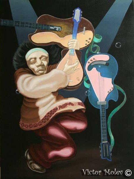 Victor Molev - Jimi Hendrix - Illusion Face