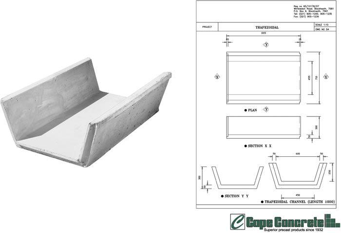 Trapezoidal Channel Ditch Liner Liner Precast Concrete Project Proposal Template