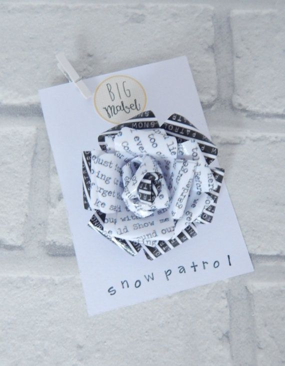 Snow patrol flower brooch paper flower pin song by bigmabelpaper snow patrol flower brooch paper flower pin song by bigmabelpaper mightylinksfo