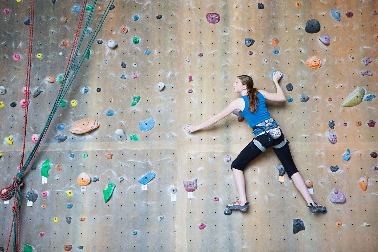 Teenage Rock Climber | Indoor rock climbing, Rock climbing