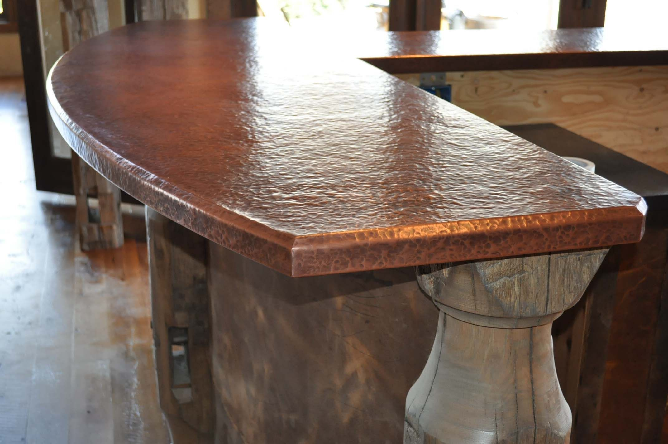 Hammered Copper Countertops Tiny House Kitchen