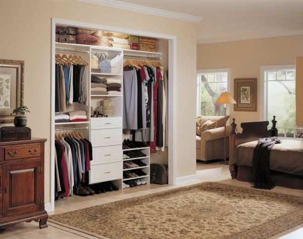 Compact bedroom wardrobe without doors closet bedroom - Room with no closet ...