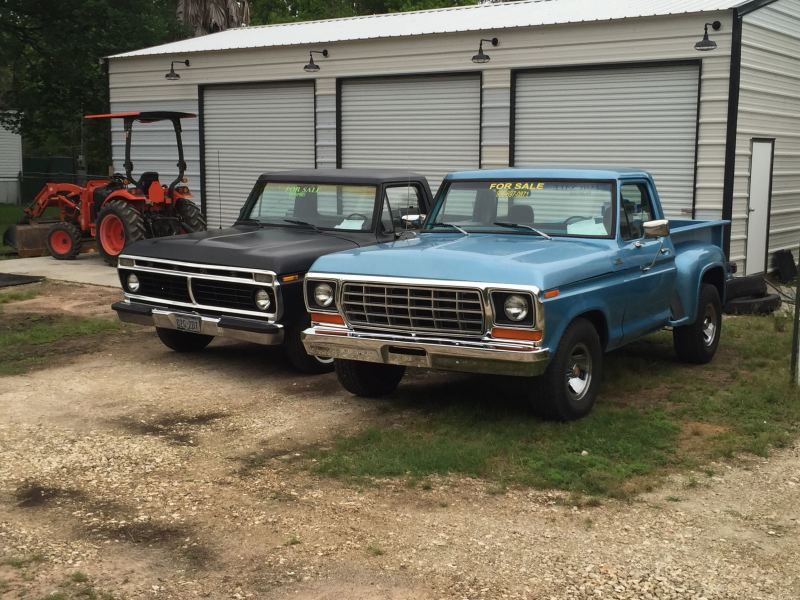 1978 ford f100 step side new motor/trans runs and drives great!!!!