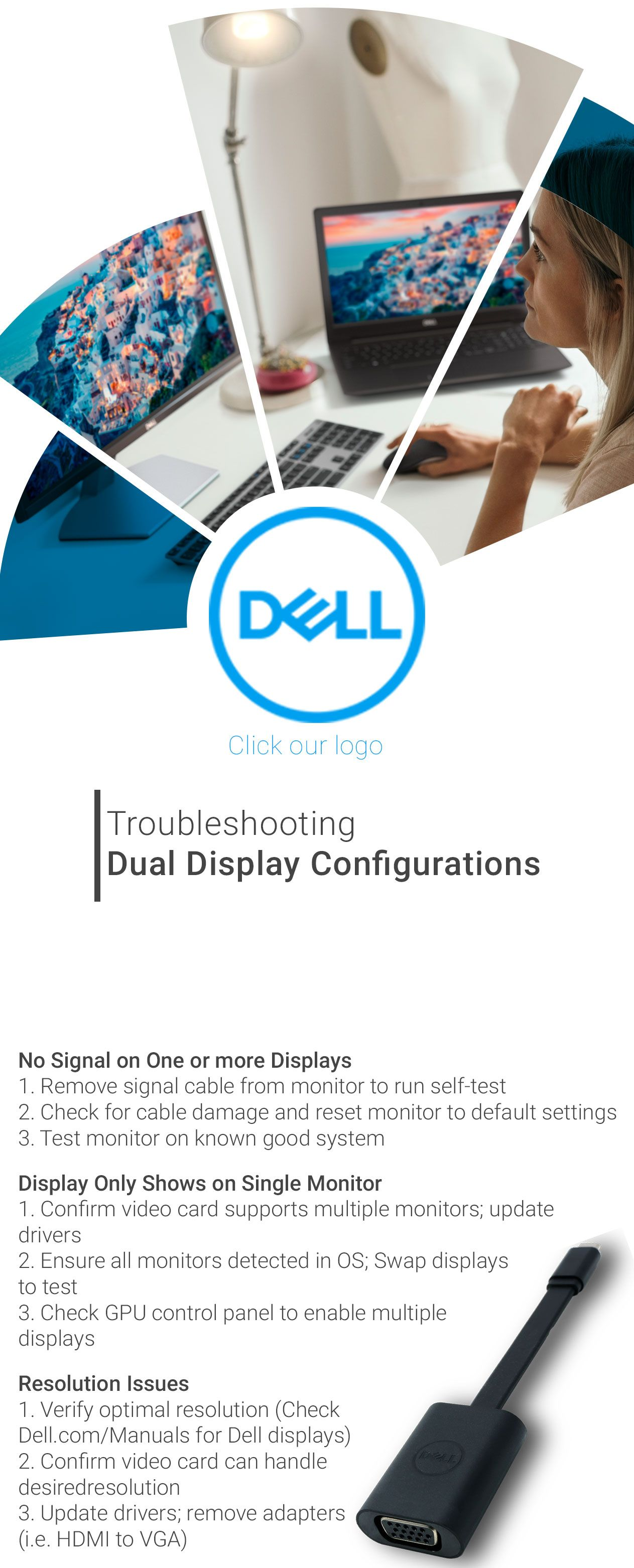 Having a problem with one of the monitors in your dual