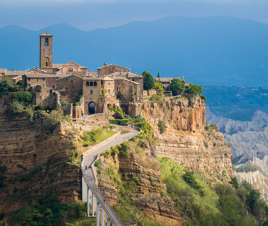 Civita Di Bagnoregio Hit By The Sun In A Stormy Autumn Day