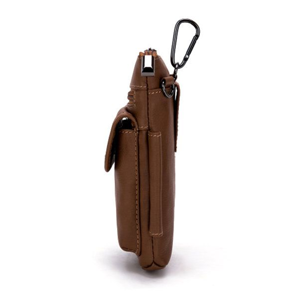 b8461adc65e8 Men Vintage Genuine Leather Multifunctional Phone Bag Crossbody Bag ...