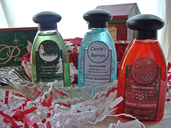 Holiday Hand Sanitizers By Carriesberries On Etsy 3 00 Hand