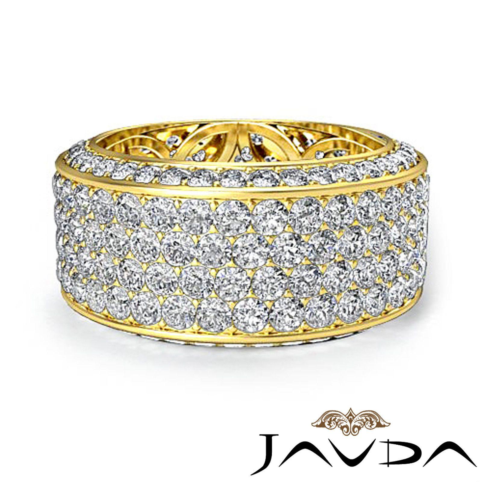 10mm Womens Ring Eternity Diamond Wedding Engagement Band
