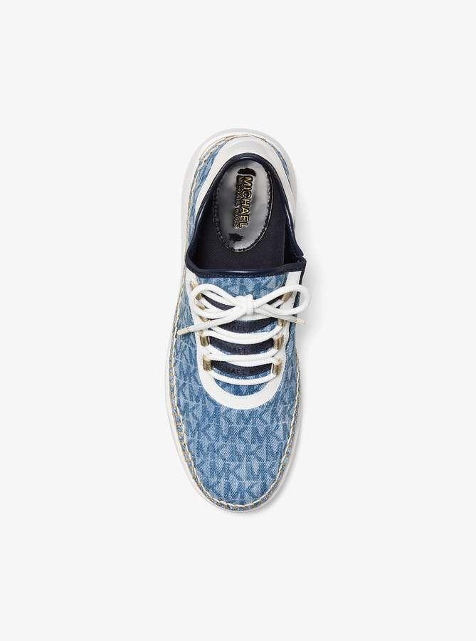 01b3afa010f MICHAEL Michael Kors Finch Logo Denim Lace-Up Sneaker in 2019 ...