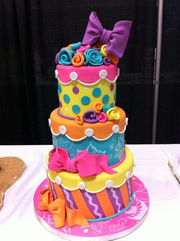 Love all the colors Decorated Cakes and Cookies Pinterest