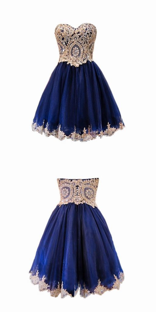 Sparkly A-line Sweet 16 Dresses Lace Short Navy Blue Homecoming Dresses 2018