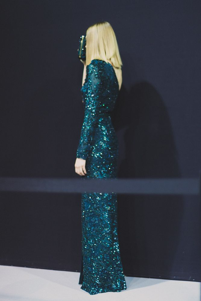 Backstage at Elie Saab (RTW), Fall 2014. Photographed by Luca Ascari.