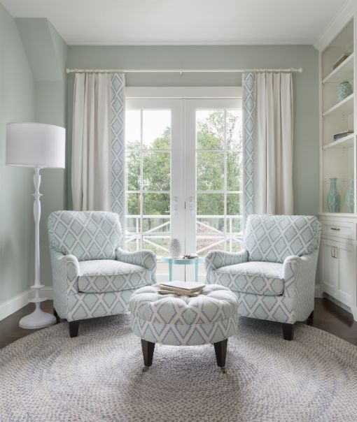 Seating area in a Master bedroom. Sherwin Williams \