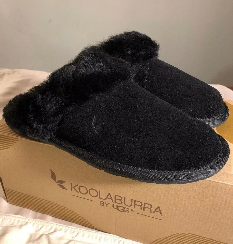 bf1cc98952f KOOLABURRA BY UGG MILO 1015823 WOMAN BLACK Slippers Size 8 AUTHENTIC ...