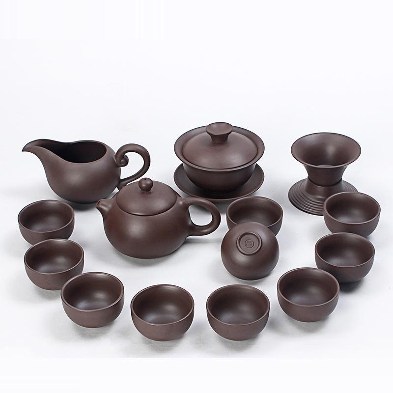 Yixing Original Chinese Kung Fu Tea Set Drinkware Purple Clay Ceramic Special Inverted Xi Shi Pot include Tea pot Cup