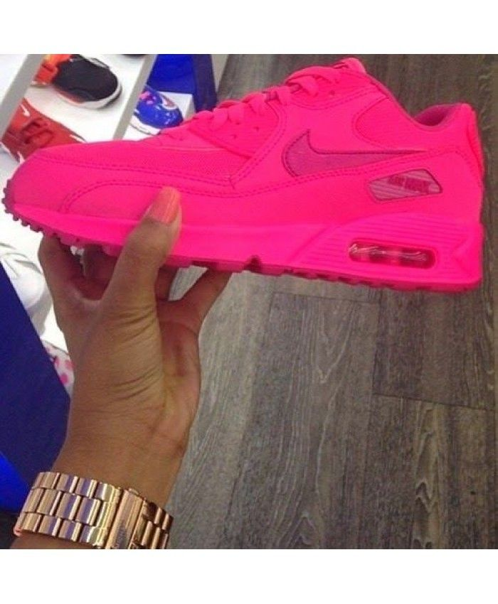 Nike Air Max 90 Neon Roze Dames Sportschoenen | Nike shoes ...