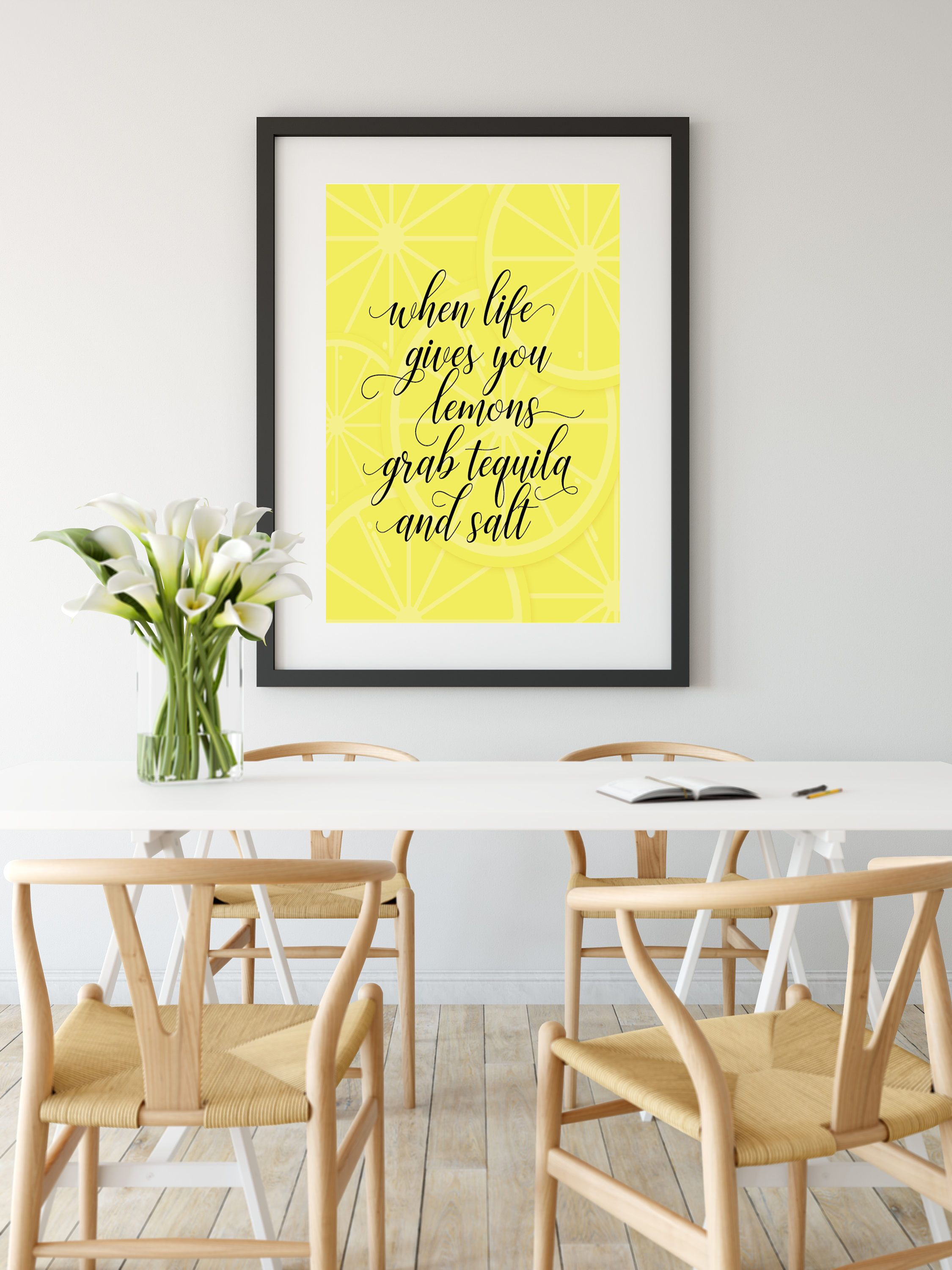 When Life Gives You Lemons || Digital Art, Wall Art, Kitchen Art ...