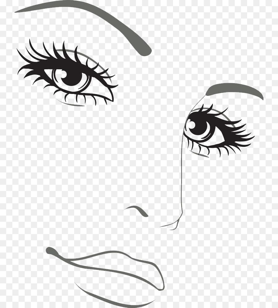 Drawing Face Silhouette Woman Illustration - Freehand features png is about  is about Eyelash, Artwork