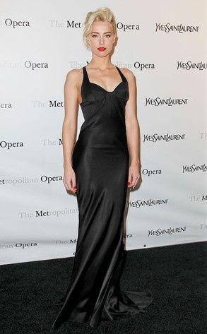 Amber Heard in YSL gown at the Metropolitan Opera Gala ...