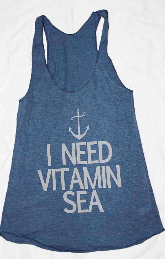 9905fc5dde6 I need vitamin sea womens beach tank. by SheSquatsClothing on Etsy ...