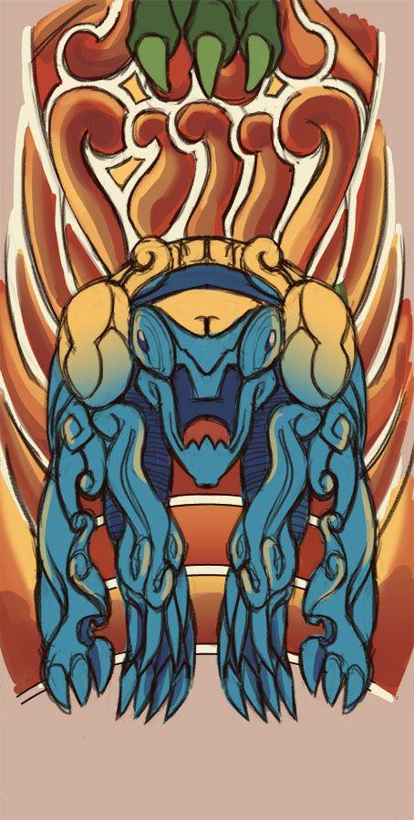 Kaiju tattoo ref. #2