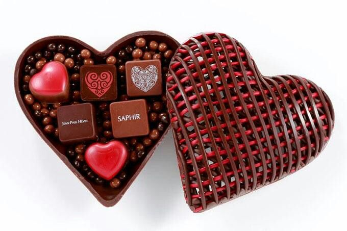 Jean Paul Hevin Valentine S Day Chocolate In The Chocolate Heart Box