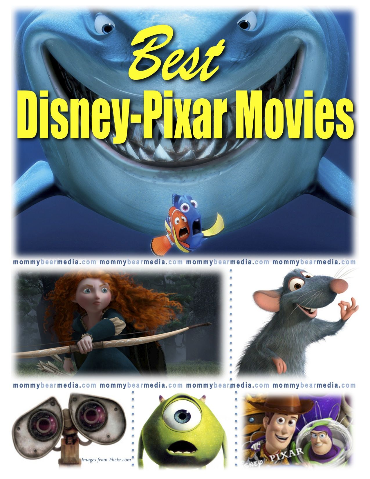 List of the 100 Best Family Movies of all Time Pixar