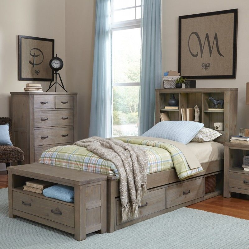 Rosenberry Rooms Reclaimed Grayson Bookcase Bed Bed