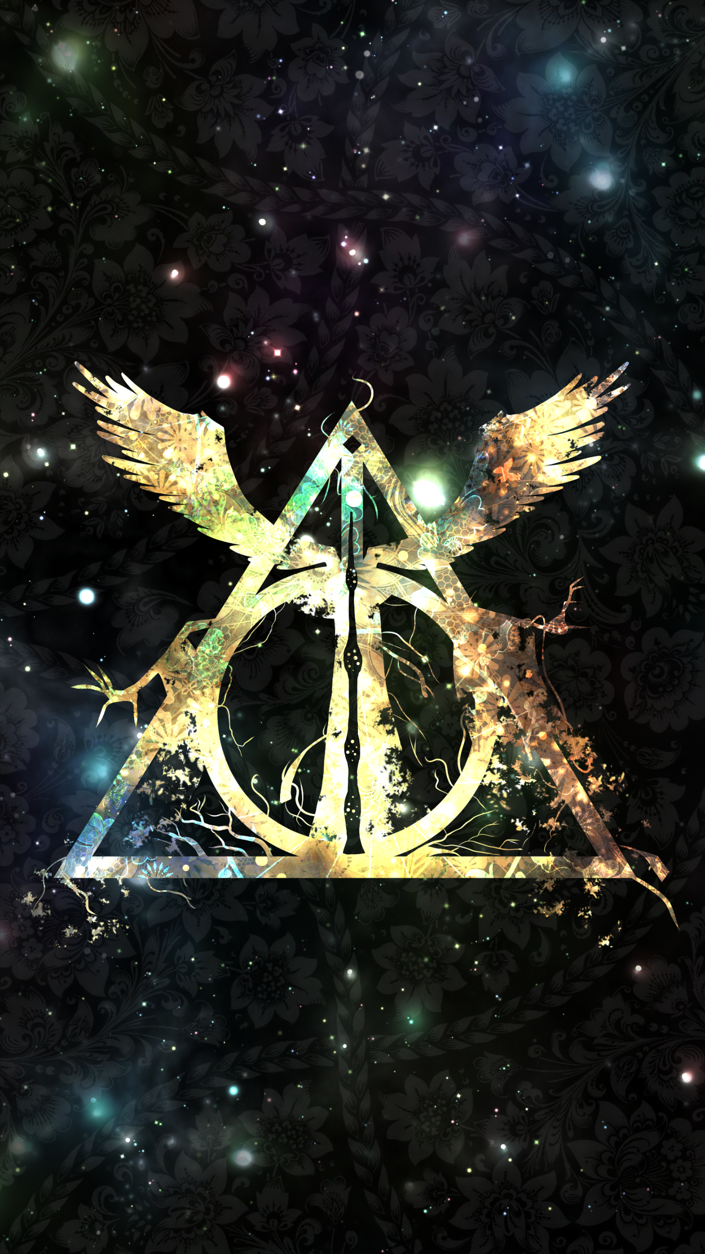Wallpapers Harry Potter Harry Potter And The Deathly Hallows Symbol Wallpaper Wide Click
