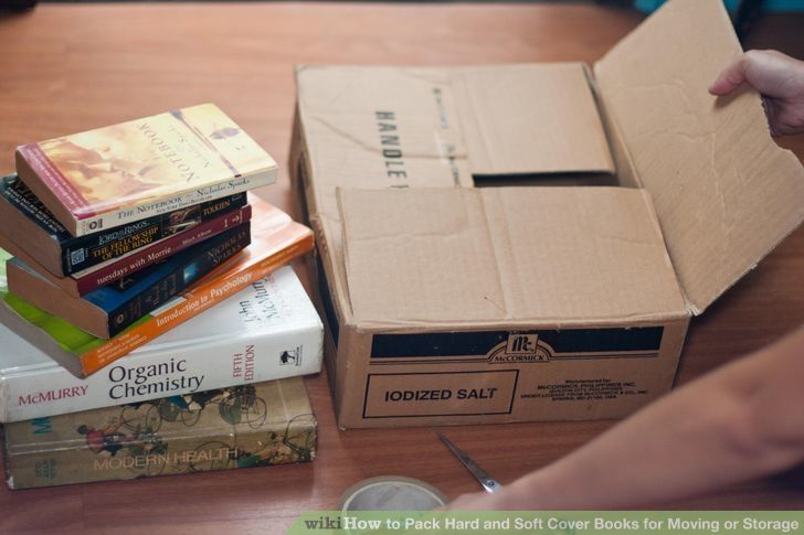 Pack Hard And Soft Cover Books For Moving Or Storage Packing To
