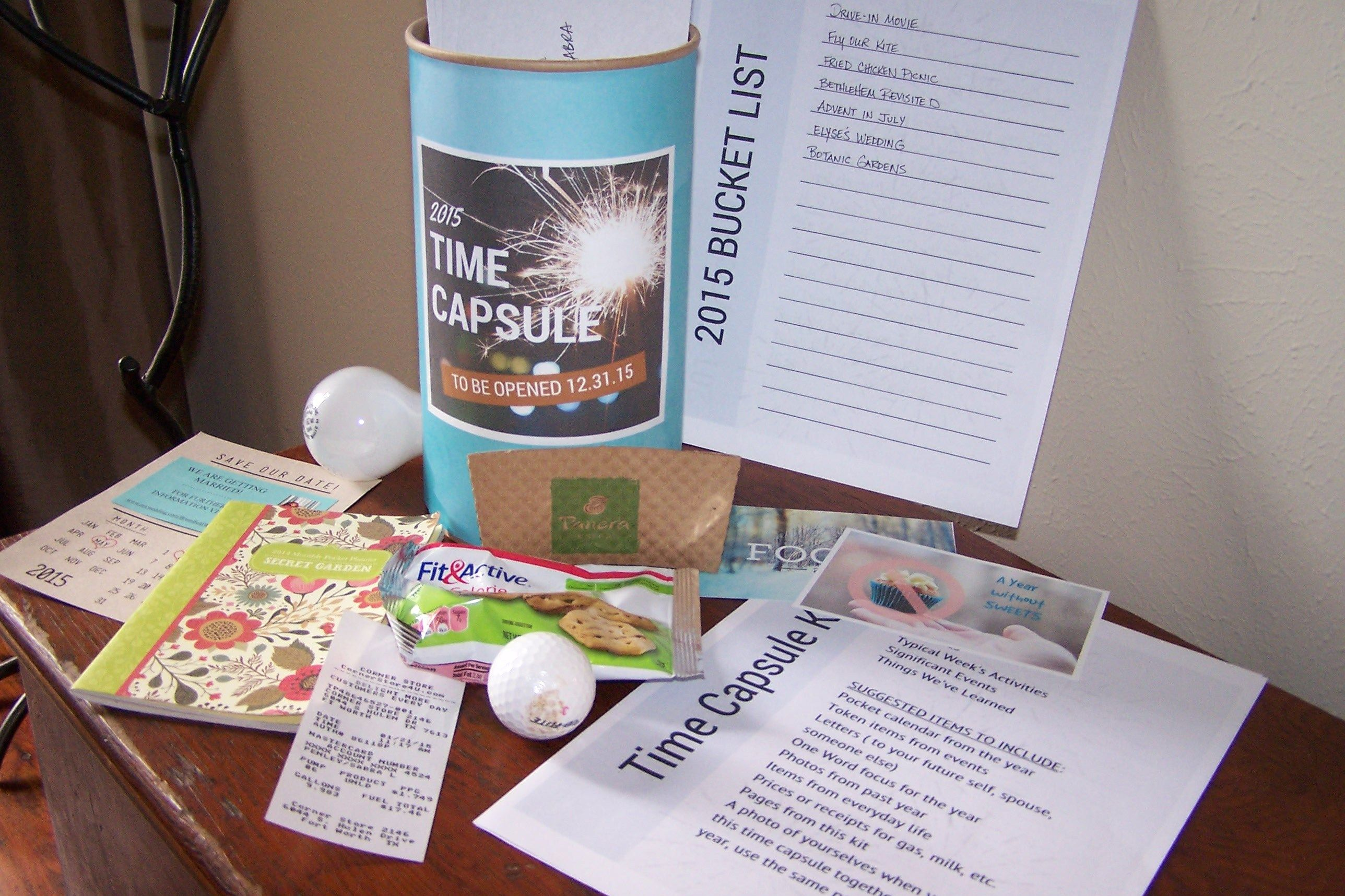 Simply Fun Make Your Own Time Capsule A Date Night Idea