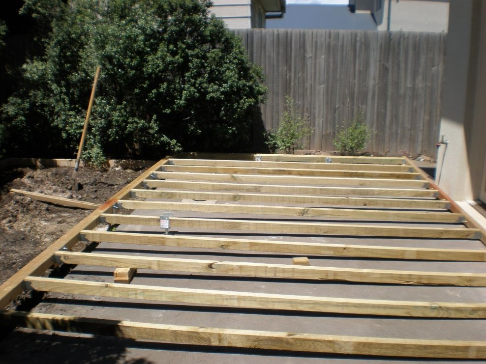 Pin By Jefe Guapo On For The Home Patio Stones Building A Patio Deck Over Concrete