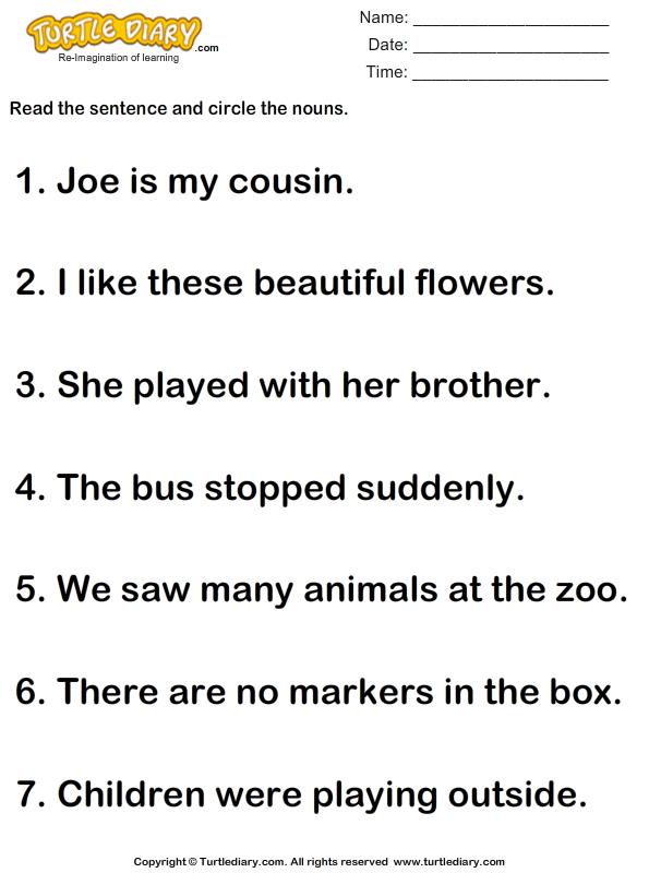 14 FREE ESL proper nouns worksheets
