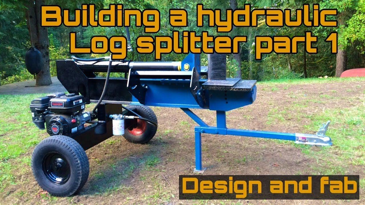 Homemade Log splitter part 1 YouTube Log splitter