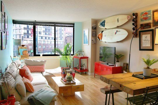 f line and ryan 39 s upper east side surf lodge style living rooms pinterest neue wohnung. Black Bedroom Furniture Sets. Home Design Ideas
