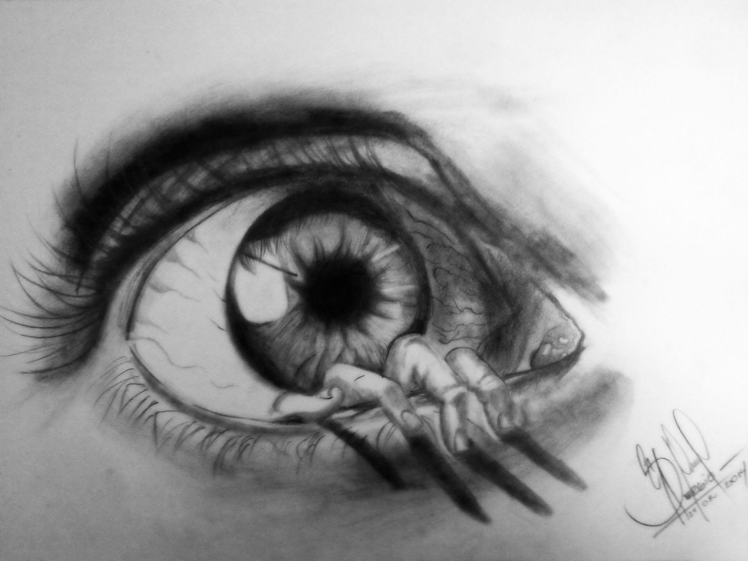 Dibujos Para Colorear Realistas: Ojo A Lapiz 3d Realista