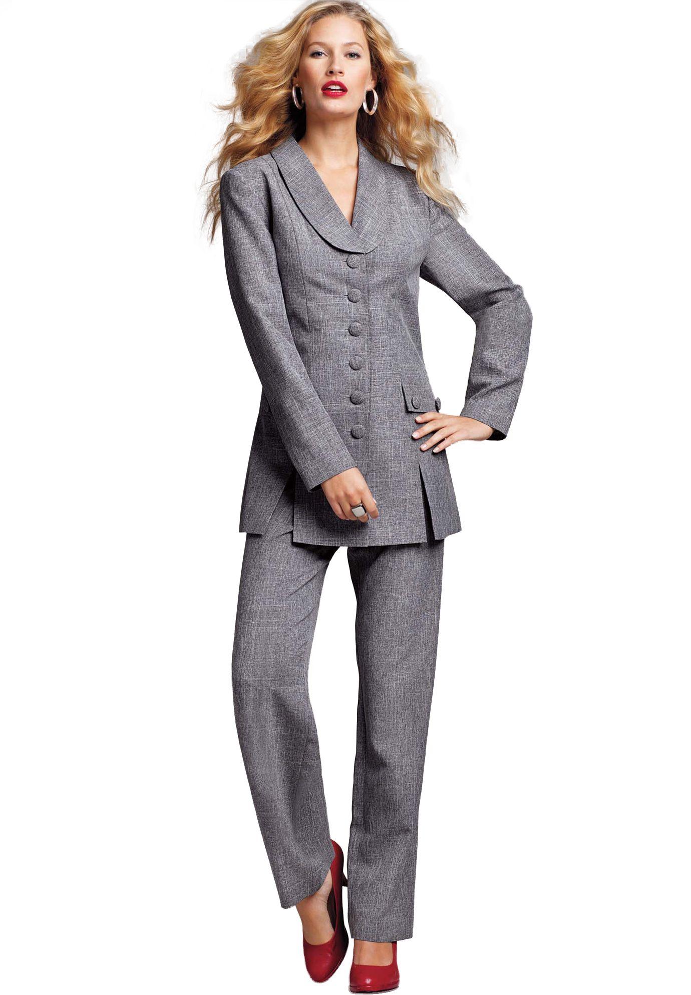 e07a473f483 10-button Pantsuit