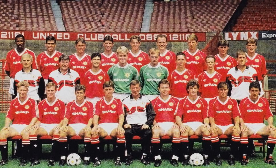 1988 1990 Squad Manchester United Manchester United Football Club Manchester United